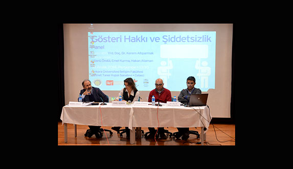 """İLEF'te """"Gösteri Hakkı ve Şiddetsizlik"""" paneli"""