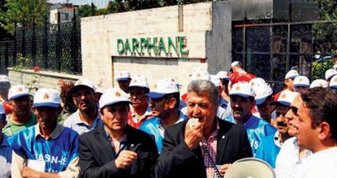 Basın-İş Genel Başkanı Yakup Akkaya, Darphane grevi sırasında
