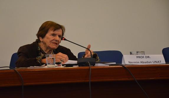 Prof. Dr. Nermin Abadan Unat SBF'ye konuk oldu