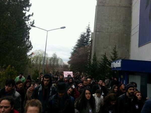 Hacettepe Üniversitesi Berkin için yürüyüş yaptı.