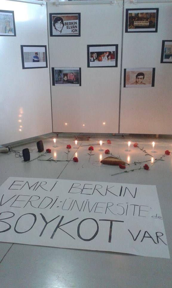Mimar Sinan Üniversitesi'nde Bomonti Kampüsü'nden Berkin için bir anma köşesi hazırlandı.
