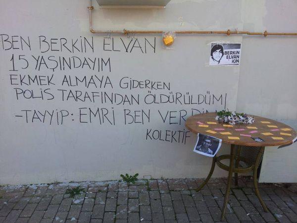DersimizBerkin diyen üniversiteliler Mersin Üniversitesi'nde Berkin için alan oluşturdu.