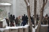 Cebeci'de kar savaşı