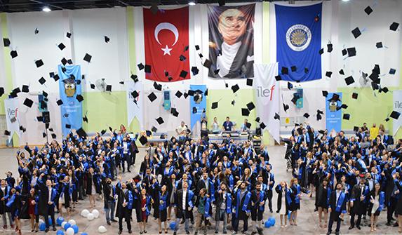 Geçen yıl düzenlenen 48. mezuniyet töreni, Cebeci Spor Salonu'nda büyük bir çoşku ile kutlanmıştı. (Fotoğraf: Hakan Soner Şener)