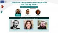 Gazeteciler Cemiyeti, telif desteklerini tanıtıyor