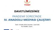 IV. Anadolu Medyası Çalıştayı online olarak düzenleniyor