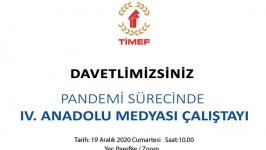 Anadolu Medyası Çalıştayı'nın dördüncüsü gerçekleştirildi