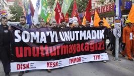 Soma katliamı, yıldönümünde Ankara'da protesto edildi