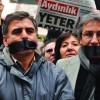 Gazetecilere yönelik tutuklamalar protesto edildi