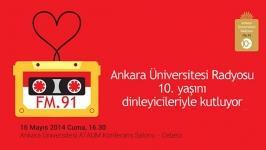 Ankara Üniversitesi Radyosu'ndan 10. Yıl etkinliği