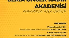 """""""Beria Onger Kadın Akademisi""""nde kadın emeği ve istihdamı konuşulacak"""