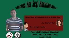 Utku Kalı'nın avukatları Ankara Hukuk'ta