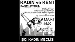 """İşçi Kadın Meclisi'nden """"Kadın ve Kent"""" paneli"""