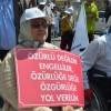 """""""Eşit haklar ve bağımsız bir yaşam"""" için engelliler Ankara'da buluştu"""