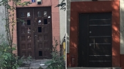 Saraçoğlu'da şimdi de tescilli kültür varlığına çelik kapı takıldı