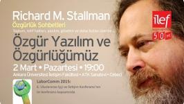 Özgür yazılım aktivisti Richard Stallman İLEF'e geliyor